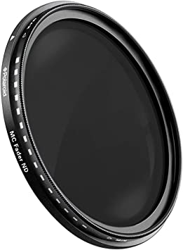 Multi Coated K/&F Concept 40.5mm ND Fader Variable Neutral Density Filter ND2 to ND400 for Camera Lens Ultra-Slim