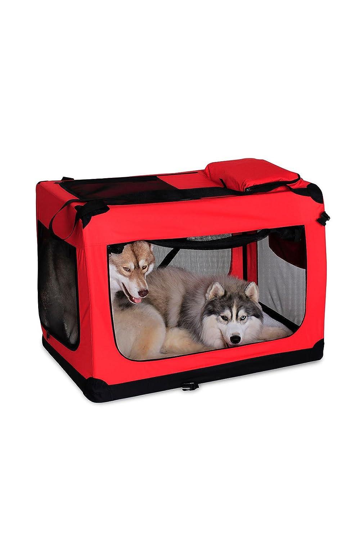 dibea TB10023 Bolsa de Transporte para Perros y Gatos XL Negro, 82x58x58 cm