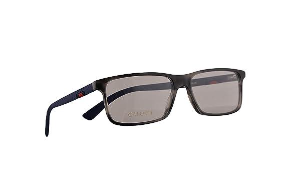 0c84e7ba67eb Amazon.com: Gucci GG0424O Eyeglasses 55-16-145 Havana Blue w/Demo ...