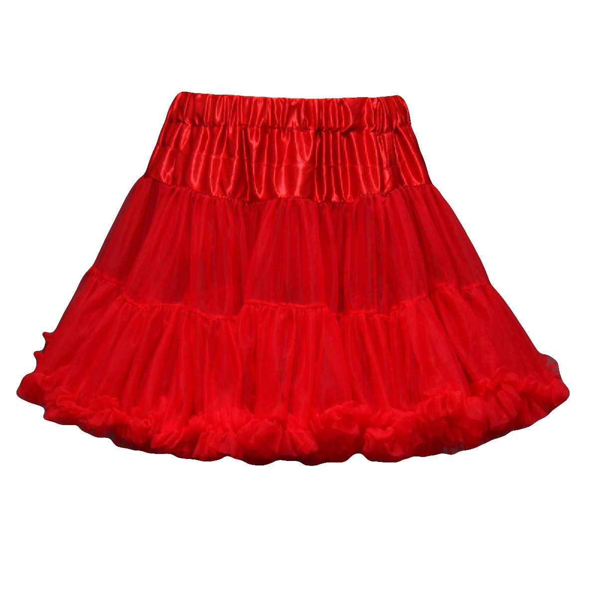 Monalia Kid's Tutu Skirt Half Slip Flower Girl Underskirt Wedding Petticoat MPC5 MPC005BK