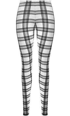 WearAll - Grande taille long leggings à carreaux - Pantalons - Femmes -  Tailles 42 à 54  Amazon.fr  Vêtements et accessoires 813fdbccb36