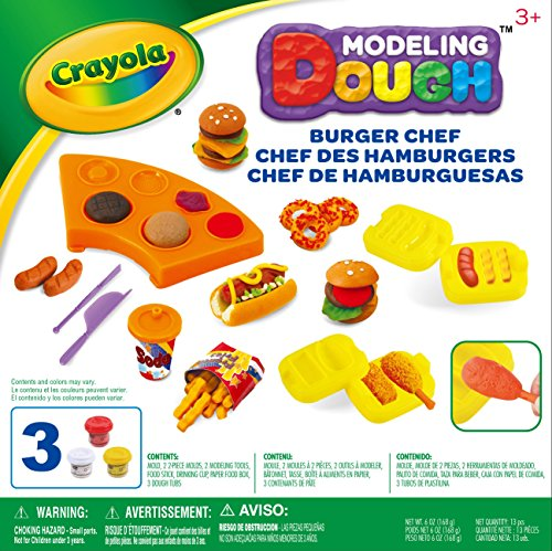 Crayola Burger Chef Modeling Dough Kit