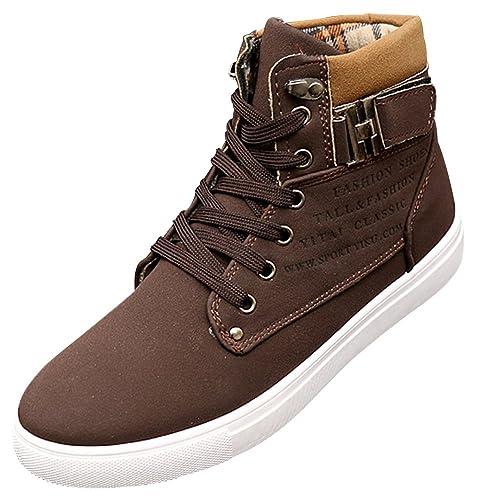 330a8a425a2b wealsex Basket Montant Daim Boucle Scratch Homme Sneakers Haute Casual  Confort Taille 38-47: Amazon.fr: Chaussures et Sacs