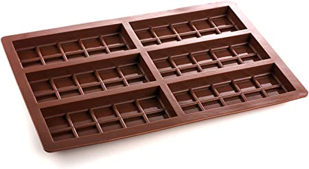 6 cell Small 10 Section Chocolate Bar Silicone Mould