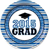 Blue Graduation Dinner Plates Package of 50. by Shindigz