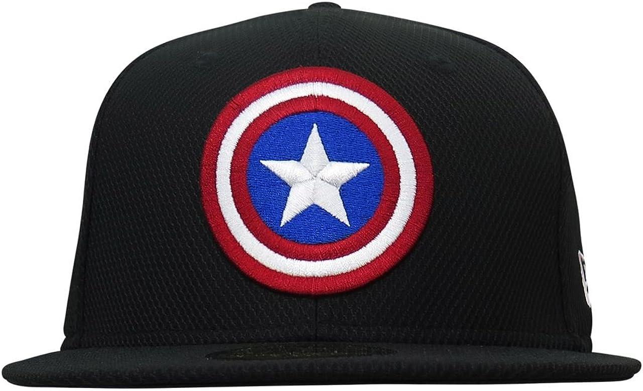New Era Bla Marvel Comics Captain America Character 9Forty Kids Snapback Cap