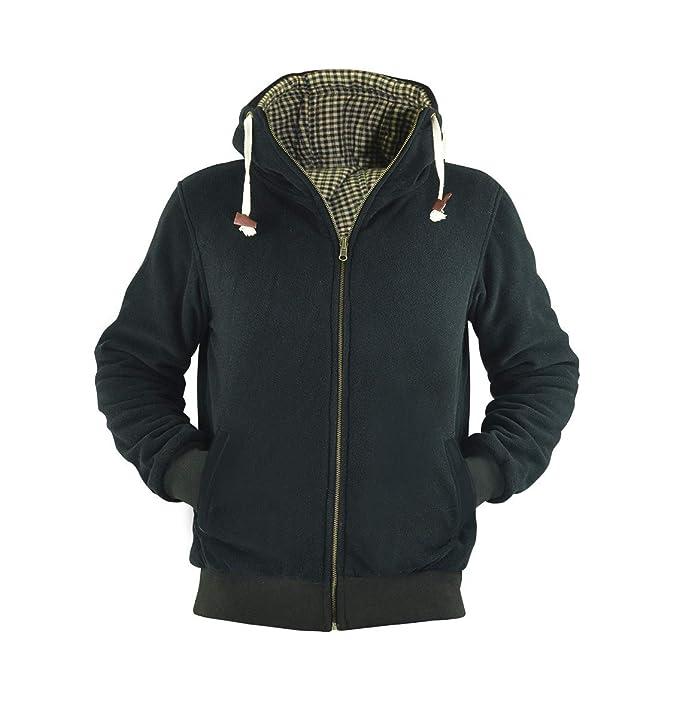 virblatt Chaqueta Canguro para Hombre Gruesa y Suave días fríos del Invierno Extra Caliente Polar Sweater, Sudadera Capucha Hombre Reversible - Gebrüder ...