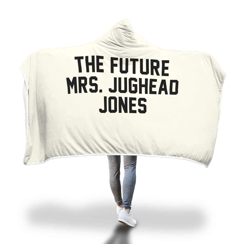 未来 B07L1PZZY7 Mrs. Jughead Adult Jones Riverdale スーパーソフトシェルパフリースフード付きブランケット Adult 80