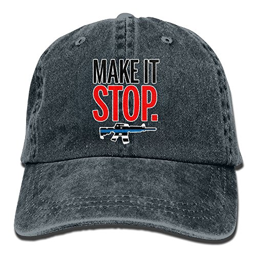 CHUNGCINVI Make It Stop Ban Assault Weapons Cool Unisex Washed Cap Adjustable Dad's Denim Stetson (Miami Ice Bucket)