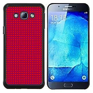 KLONGSHOP // Cubierta de piel con cierre a presión Shell trasero duro de goma Protección Caso - Textura Pink Dots - Samsung Galaxy A8 A8000 //