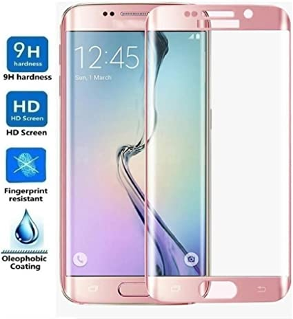Protector de Pantalla Curvo para Samsung Galaxy S7 Edge, Rosa, Cristal Vidrio Templado Premium, 3D / 4D / 5D: Amazon.es: Electrónica