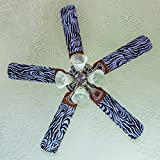 Fancy Blade Ceiling Fan Accessories Blade Cover Decoration, Zebra Print Small