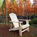 Emirc Wooden Adirondack Chairs, Natural For Sale