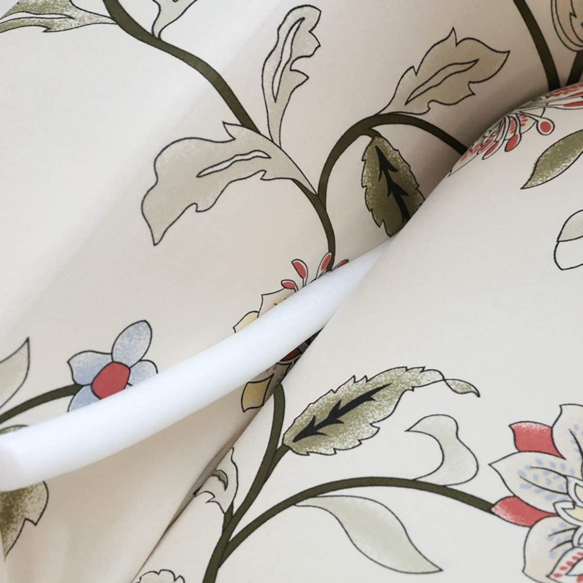 Copridivano elasticizzato per divano a 2 posti con fiore stampato a 2 posti Protezione morbida per divano in poliestere con fodera per divano sul fondo elastico Fiore a vite, 2 posti 145 cm-185 cm