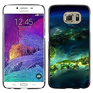 Paccase / SLIM PC / Aliminium Casa Carcasa Funda Case Cover para - Island Planet Earth Space - Samsung Galaxy S6 SM-G920
