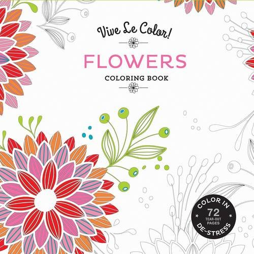 Vive Le Color Flowers Adult Coloring Book In De