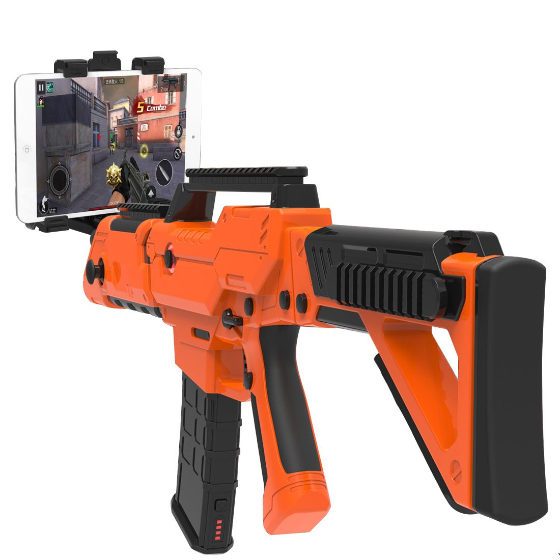 VR Bluetooth Game Gun for HTC VIVE,Game Pad Shooting Controller TPS FPS with Motor Vibration for 4 to 6 Inch Smartphone iPhone Samsung Tablet iPad Wireless Android,BENEVE(Orange)