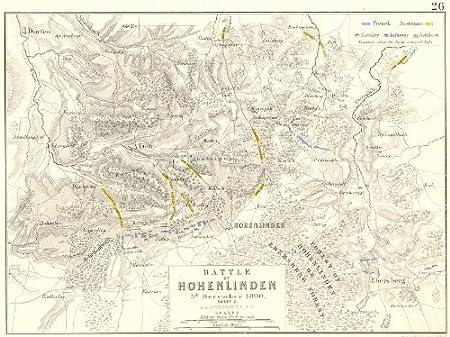 Map Of Uk 1800.Battle Of Hohenlinden 3rd December 1800 Sheet 2 Germany 1848 Map