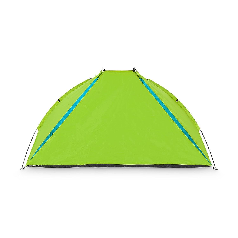 Mivall Strandmuschel Verschlie/ßbar mit UV Schutz und Sonnenschutz 240x120x120cm Strandzelt als Sichtschutz