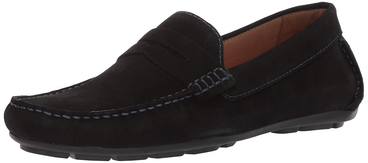 Black Suede Driver Club USA Mens Mens Genuine Leather Made in Brazil Hollywood Loafer Loafer