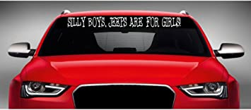 Jeep Girl Windshield Truck Car Stickers Decal