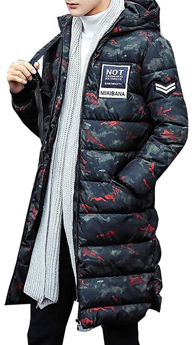 WSPLYSPJY Mens Winter Packaged Down Puffer Jacket with Hooded Compressible Long Down Coat
