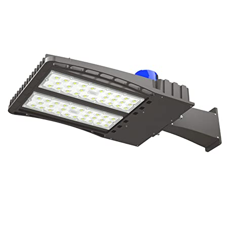 Antlux 200w Led Parking Lot Lights Outdoor Shoebox Pole Light 26000lm 5000k Daylight White 600w Mh Hps Replacement Ip66 Waterproof Area Street
