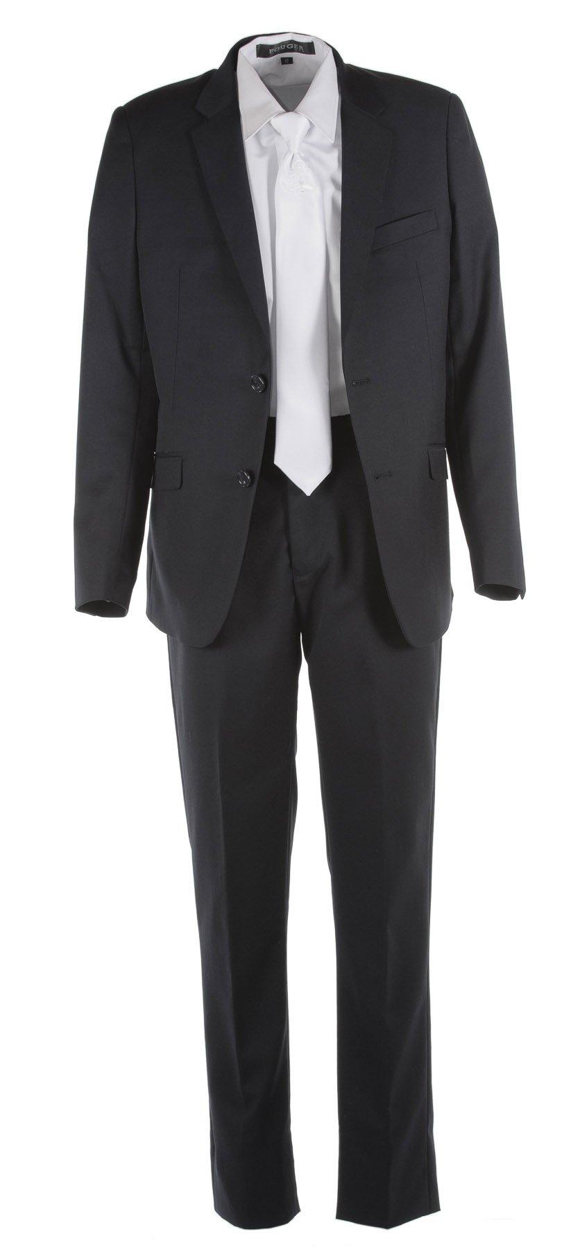 Tuxgear Boys Black Slim Fit Communion Suit With Communion Cross Dress Tie (Boys 20)