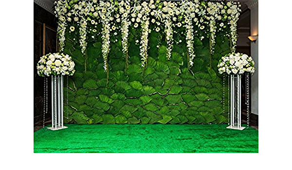 Zhy Dreamlike Lotus Green Leaves Background 7x5ft Watercolor Vinyl Photography Backdrop Wedding Baby Child Portrait Shooting Backdrop Artistic Photo Backdrop Prop GEEV194