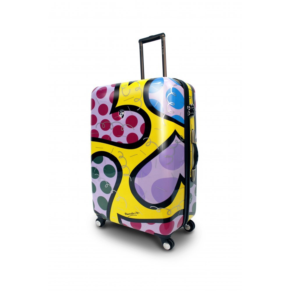 Britto Hearts Carnival 30'' Hardsided Spinner Suitcase