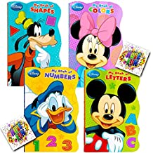 """Disney Mickey Mouse """"My First Books"""" -- Set of 4 Shaped Disney Mickey Mouse Board Books for Toddlers Kids"""