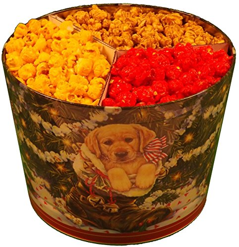 2 Gallon Popcorn Tin 1/3 Caramel 1/3 Cheese 1/3 Cinnamon (Cinnamon Popcorn)