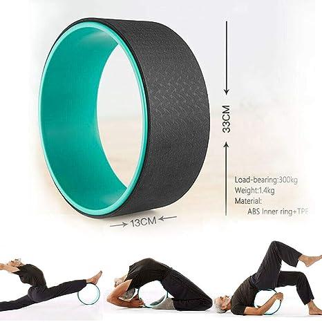 Quality Yoga Wheel Stretch Back Chest Spine Dharma Backbend 33cm Green