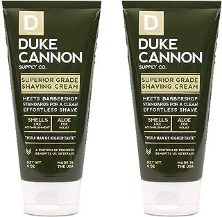 product image for Duke Cannon Supply Co. - Superior Grade Shave Cream, Smells Like Accomplishment (2 Pack of 6 oz) Superior Grade Shaving Cream for The Least Irritating Shave Ever - Bergamot and Black Pepper