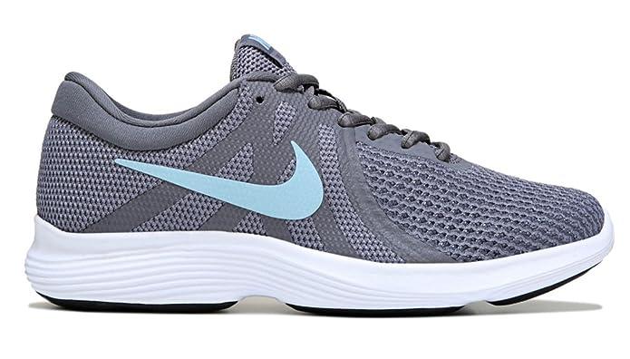 sale retailer 21bcc d99f0 Nike pour Femme Revolution 4 Large Chaussure de Course à Pied, (Gunsmoke Ocean  Bliss Dark Grey White), 39 D EU  Amazon.fr  Chaussures et Sacs