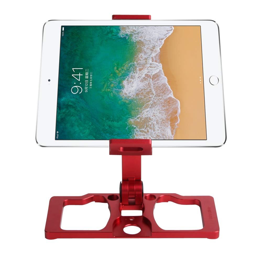 for DJI Gopro Action Camera, Sunnylife TY-ZJ035 Upgrade Full Aluminum Alloy Smartphone & Tablet Holder for DJI Mavic 2 / Mavic Pro/Mavic Air/Spark/Crystalsky Monitor(Black) (Color : Red)