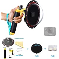"""TELESIN 6"""" Underwater Dome with Trigger T05 Dome Port Diving Lens Cover and Dome Bag for GoPro Hero 2018, Hero 6 Black, Hero 5 Black"""