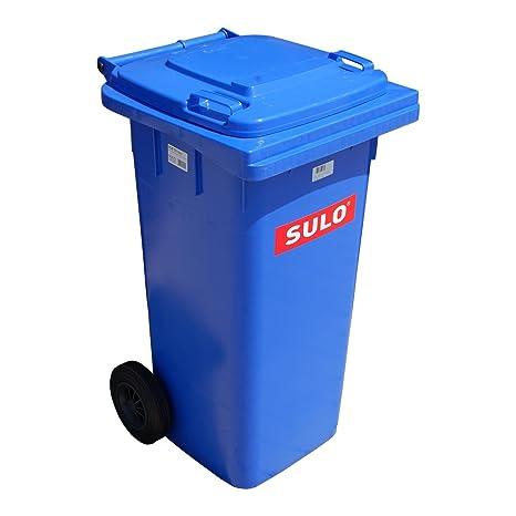 Sulo Cubo de Basura 2 Ruedas, contenedor a Basura 120 L, Azul (22070
