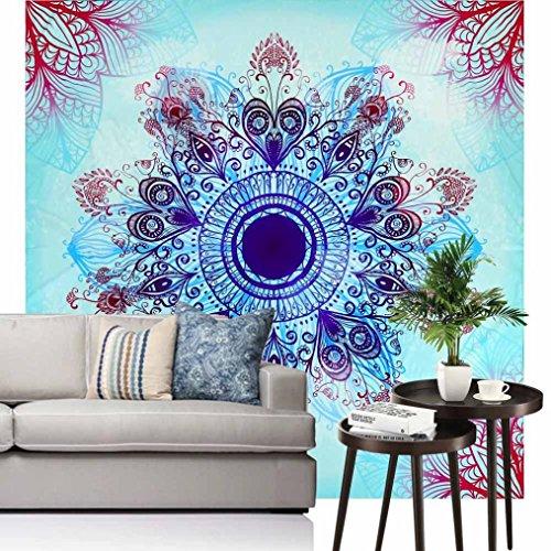 Price comparison product image Vibola Indian Bohemian Mandalas Tapestry Totem Lotus Wall Hanging Sandy Beach Towels Yoga Mat Blanket Camping Mattress Bikini Cover Up 150 150cm/59''
