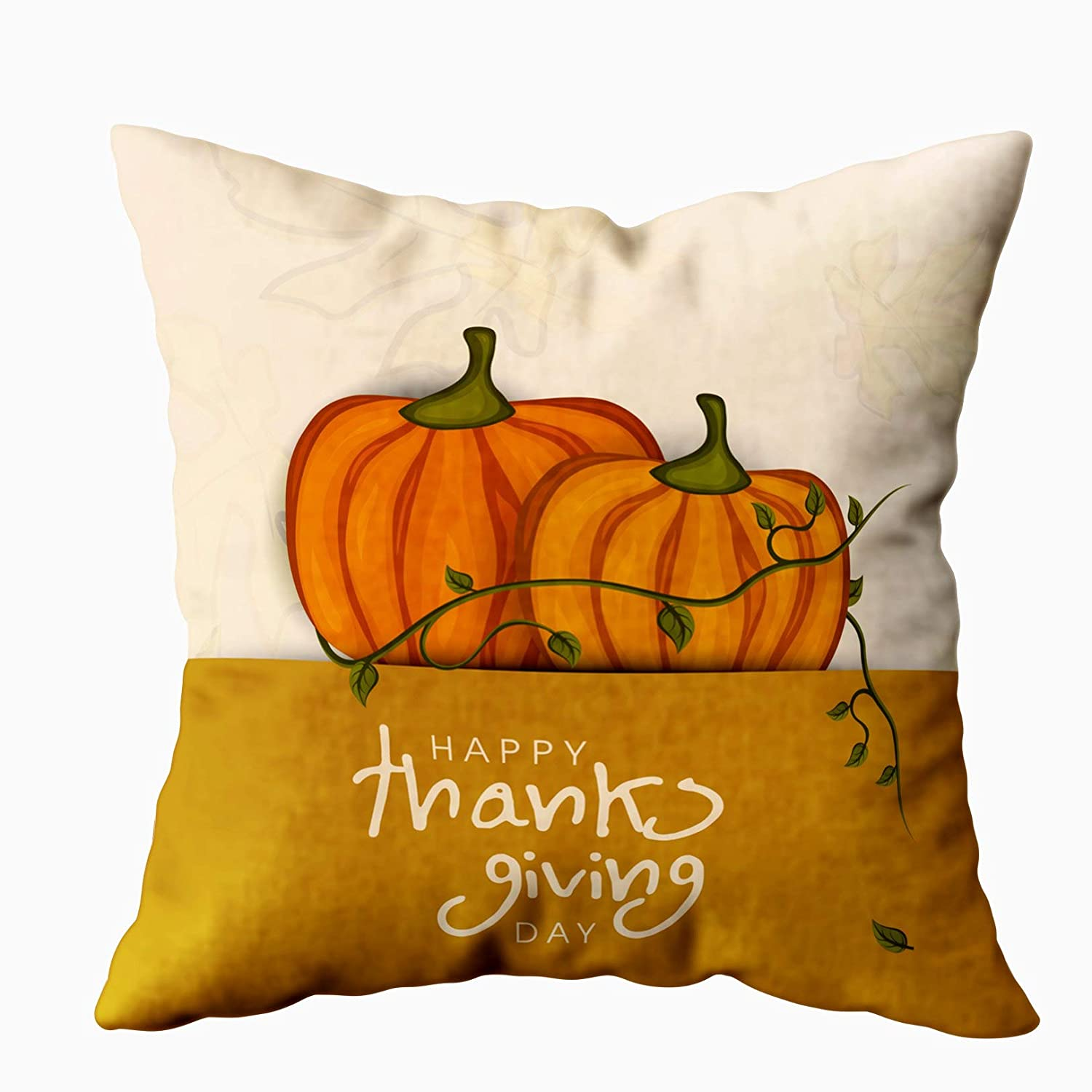 Astounding Emmteey Throw Pillows For Couch Pillow Covers 16X16 Pillow Covers Home Throw Pillow Covers Cushions Thanksgiving Day Concept Pumpkin Autumn For Caraccident5 Cool Chair Designs And Ideas Caraccident5Info