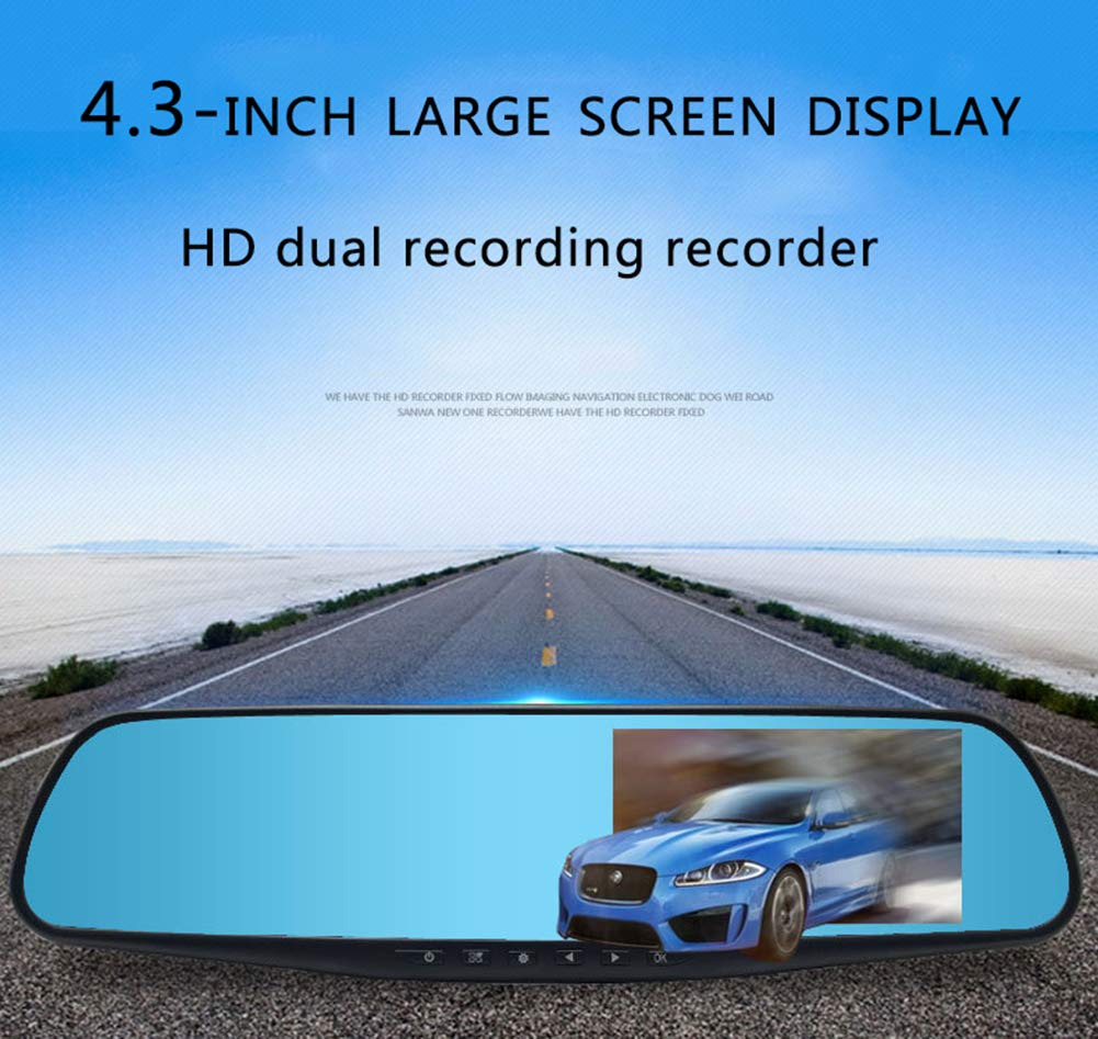 ZYWX-Full-HD-1080P-43-Inch-Screen-and-Car-Video-Recorder-170-Wide-Angle-Gravity-Sensing-Night-Vision