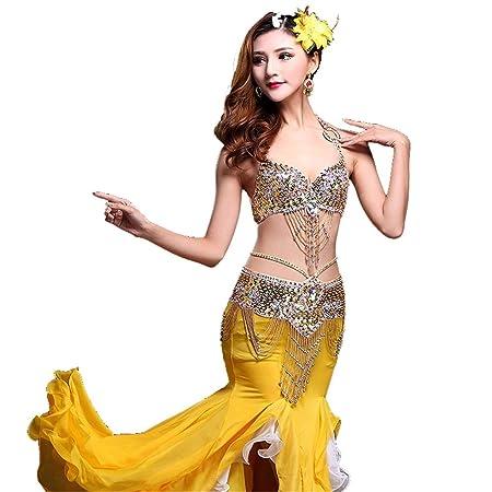 Vestido Mujer para Danza Mujeres traje de danza del vientre Tribal ...