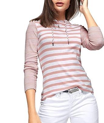 low priced 1c4db b06de TrendiMax Damen Kapuzenpullover Sweatshirts Gestreift Hoodie ...
