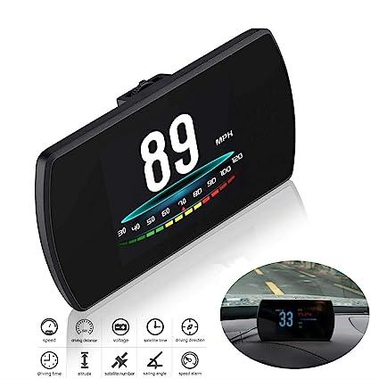 Amazon.com: Universal Car HUD Head Up Display Digital GPS ...