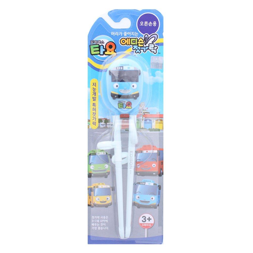 Cute Tayo Bus Training Chopsticks for Right-hand Children Kids (Blue Bus) INP