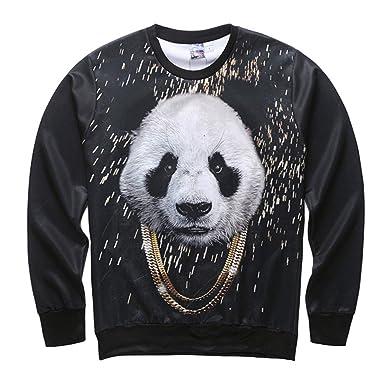 FAMILIZO Sudaderas Hombres Impresión En 3D Casual para Hombre Panda Hip Hop Sudadera con Capucha De Manga Larga Top Blusa Chaqueta Hombres Invierno Hoodie: ...