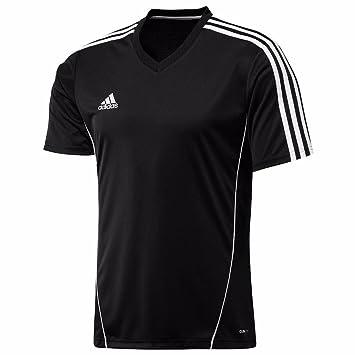 adidas Climalite - Camiseta de fútbol de Entrenamiento Top Estro, Color Negro/Blanco, tamaño Small: Amazon.es: Deportes y aire libre