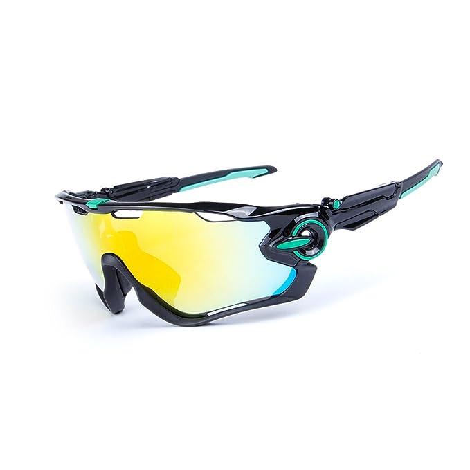 Adesugata Sport Lunettes de soleil–- Sports Lunettes de soleil polarisées protection UV400Outdoor Lunettes de soleil pour homme femme avec 5verres interchangeables pour la course à pied Cyclisme C kDkPv5