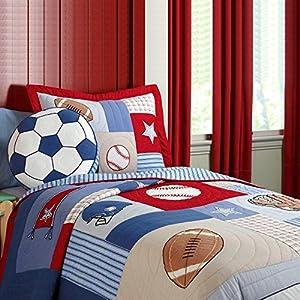 NEWLAKE Kids Quilt Bedspread Set, 2 Pieces of Comforter Sets