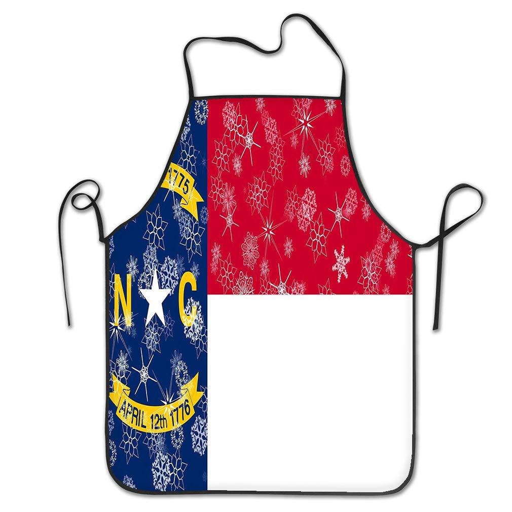 nsnabawanan Funny Personality Apron North Carolina Winter Snowflakes Flag United States America Winter Motive North Carolina Winter Snowflakes Flag Chef Kitchen Aprons 20.4 28.3 inch